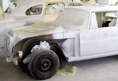 Restauration Mercedes Coupe W111 - Lackierung